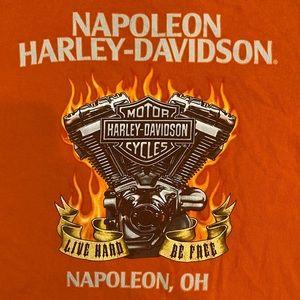 Harley-Davidson Orange Napoleon, OH T-Shirt Sz XL